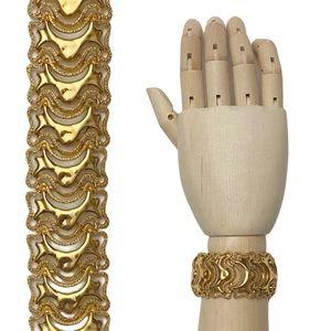 VTG Monet Abstract Textured Wavy Link Bracelet